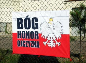 Flaga Bóg Honor Ojczyzna