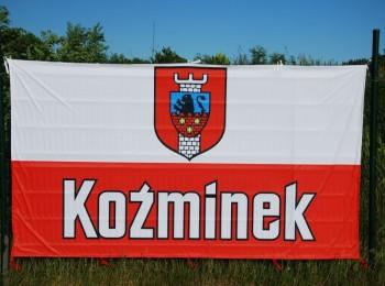 Flaga  Polski - Koźminek